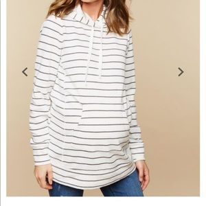 French terry maternity hoodie